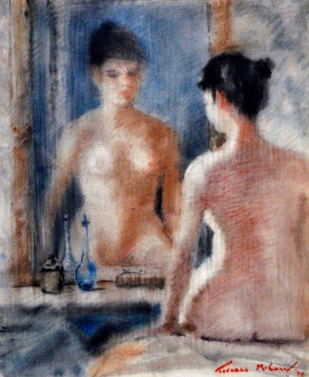 Terence McCaw; A Nude in front of a Mirror