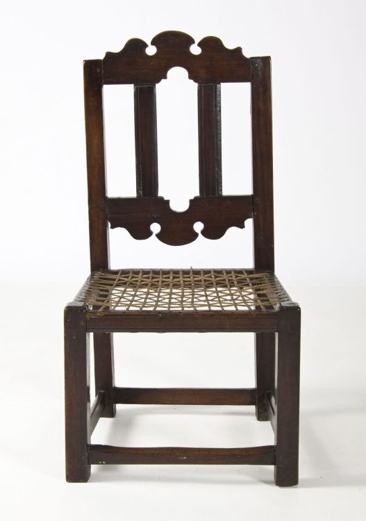 A Cape Transitional teak and stinkwood chair, late 18th Century