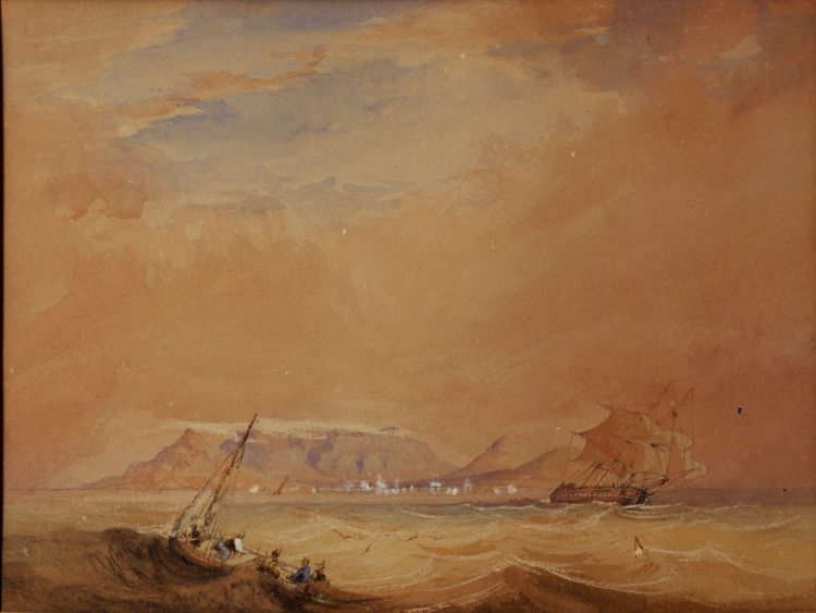 Thomas Bowler; Choppy Seas, Table Bay