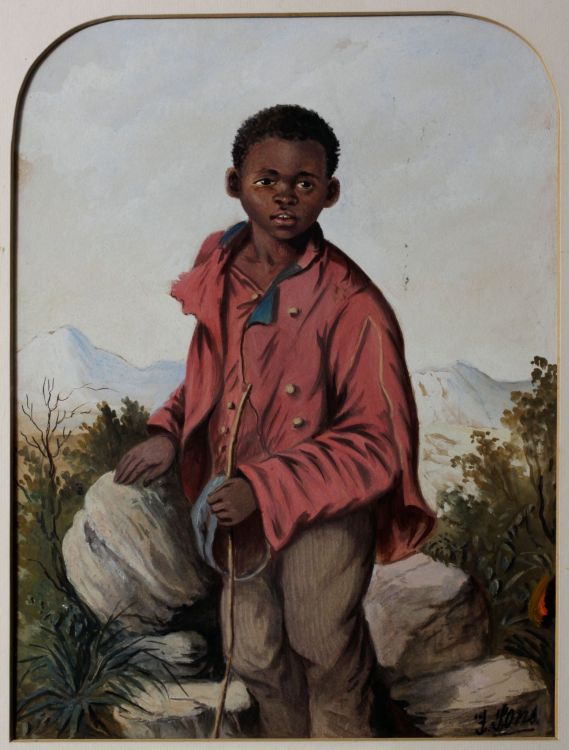 Frederick Timpson I'Ons; Young Boy in a Red Jacket