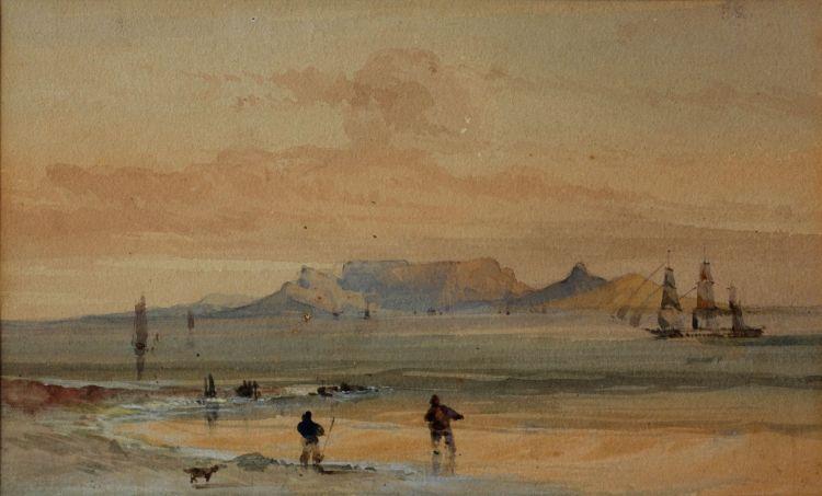 Thomas Bowler; Table Mountain from Blaauwberg