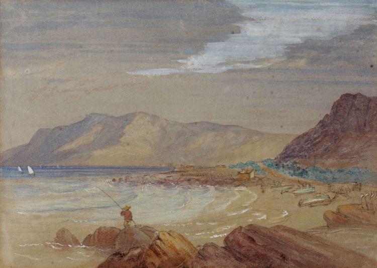Thomas Bowler; Kalk Bay Looking Towards Simons Bay