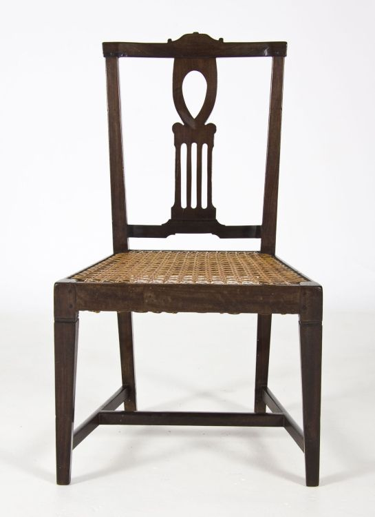 A Cape neo-classical stinkwood fiddleback side chair, late 18th/early 19th century