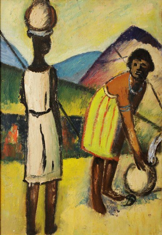 Pranas Domsaitis; Two Women Fetching Water