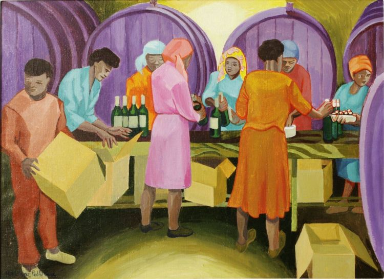 Marianne Podlashuc; Packing Wine, Muratie