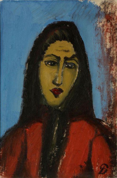 Pranas Domsaitis; Contemplative Woman
