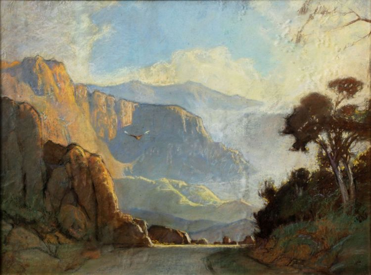 Walter Gilbert Wiles; Landscape with Eagle