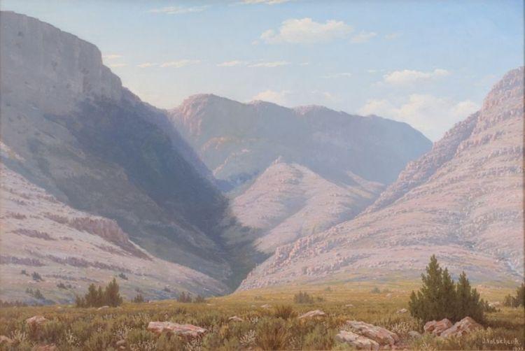Jan Ernst Abraham Volschenk; A Landscape with Trees