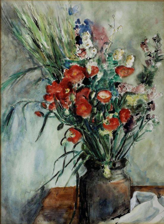Maud Sumner; Spring Flowers in a Vase