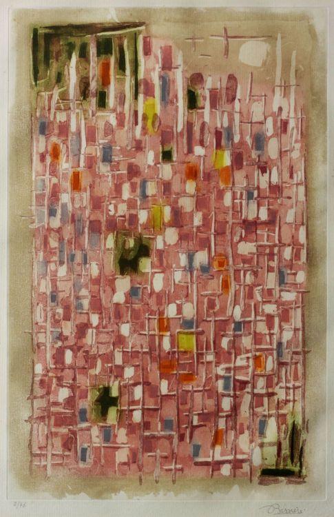 Roger Bissière; Composition Rose
