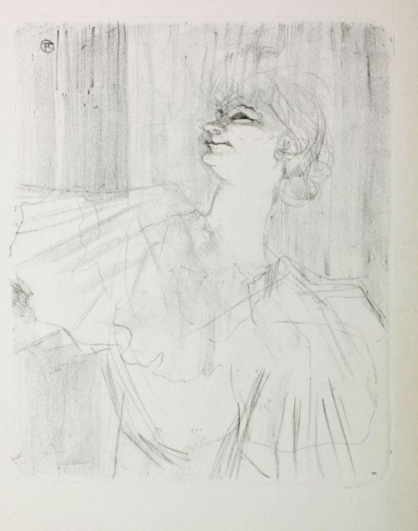 After Henri de Toulouse-Lautrec; Yvette Guilbert (A Menilmontant de Bruant)