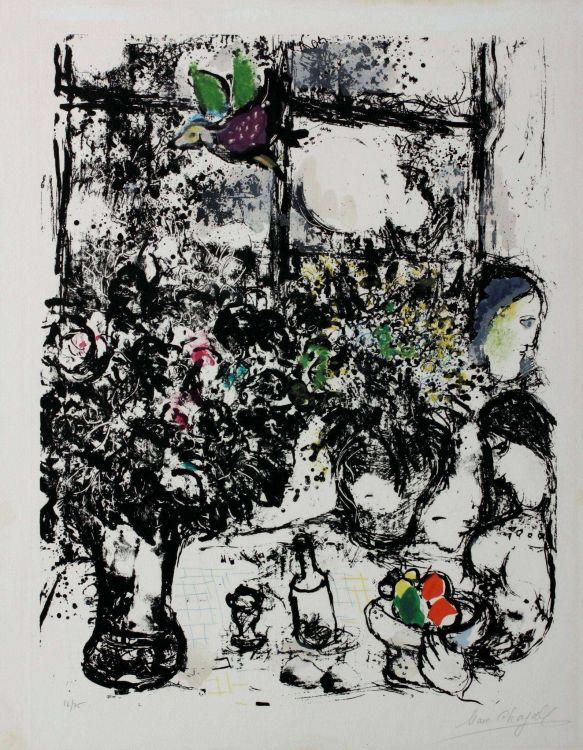 Marc Chagall; Nature Morte au Bouquet