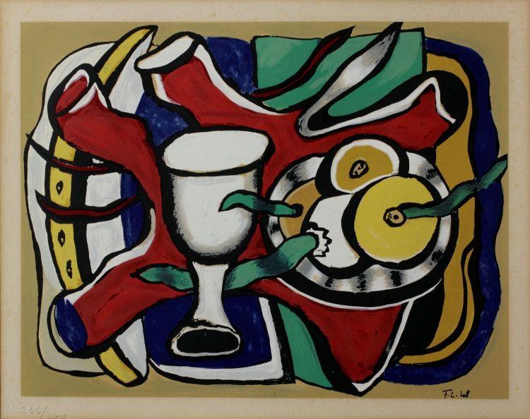 Fernand Léger; Composition sur Fond Bleu
