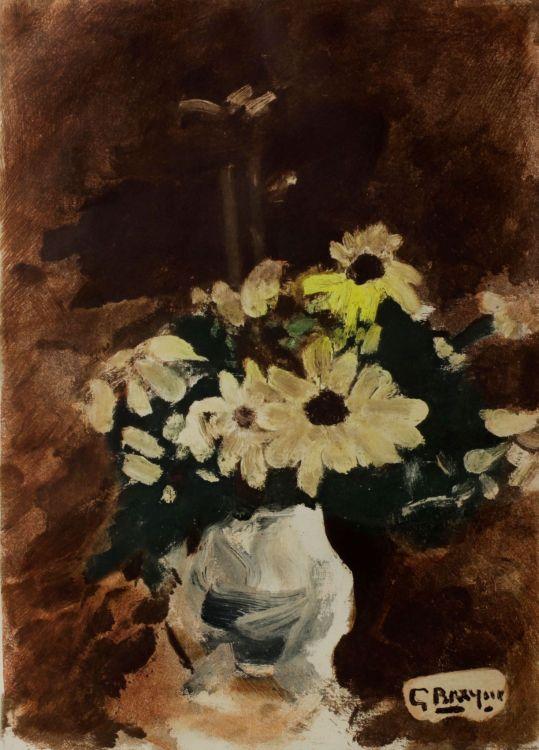 Georges Braque; Vase de Fleurs Jaunes