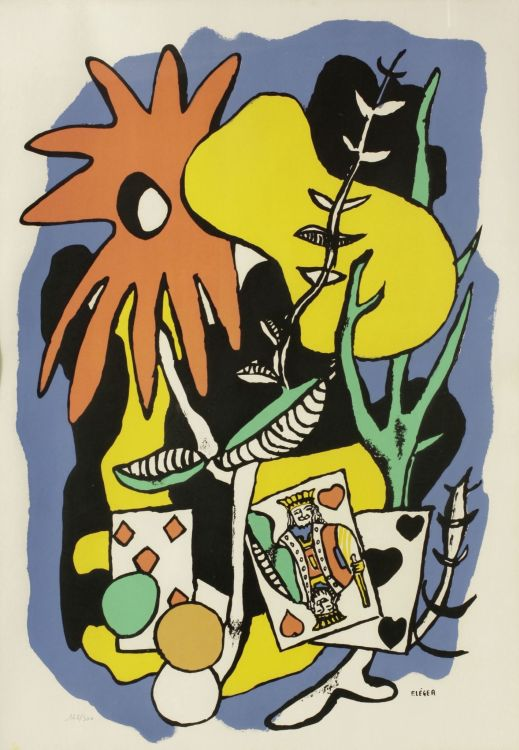 After Fernand Léger; Le Roi du Coeur