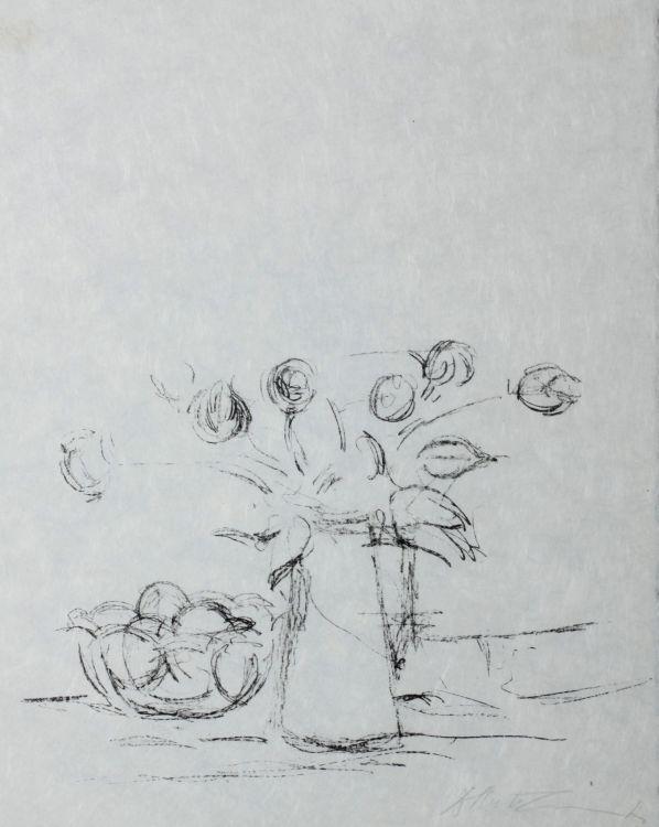 Alberto Giacometti; Bouquet et Bol de Fruits