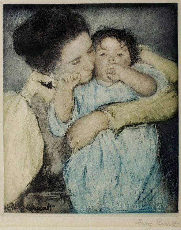 Mary Cassatt; Mother and Child