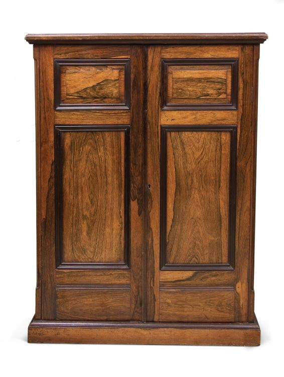 A colonial rosewood and ebonised book cabinet, possibly Dutch, 19th century