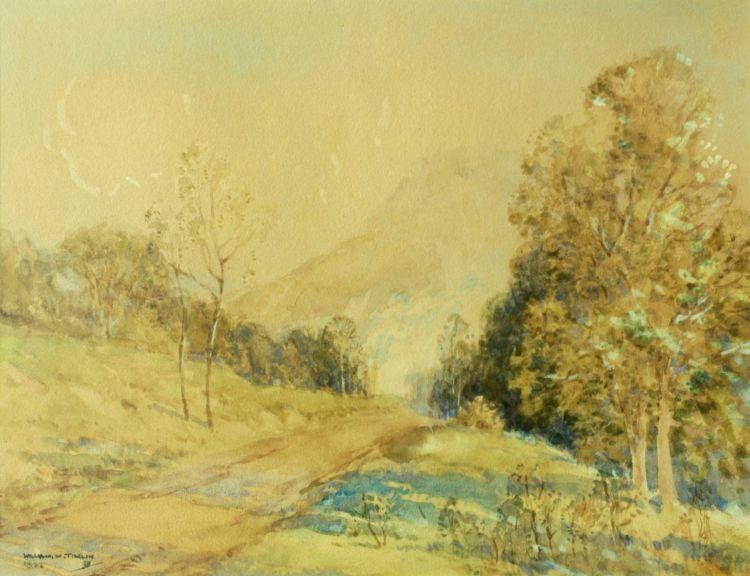 William Timlin; A Road in a Mountain Landscape