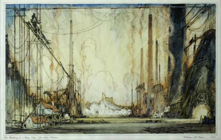 William Timlin; The Building of a Fairy City - The Iron Workers