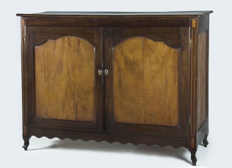 A Cape yellowwood and stinkwood inlaid side cupboard, 18th century