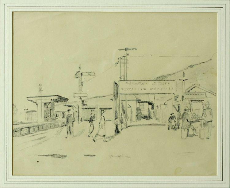 Strat Caldecott; Station Scene