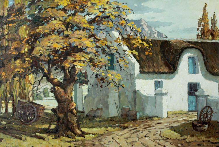 Nils Andersen; Cape Farmhouse with Wagon