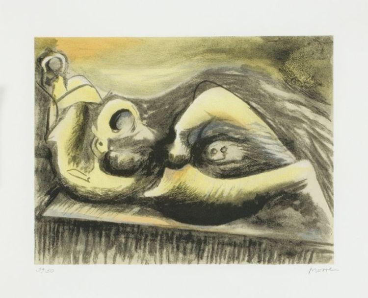 Henry Moore; Reclining Figure, 1982 (C.653)