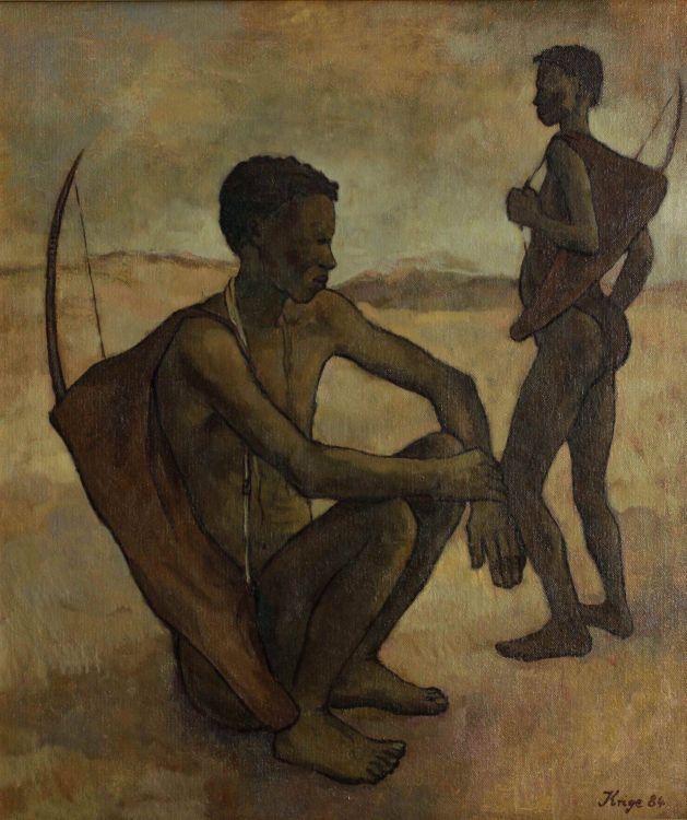 François Krige; Two Bushmen