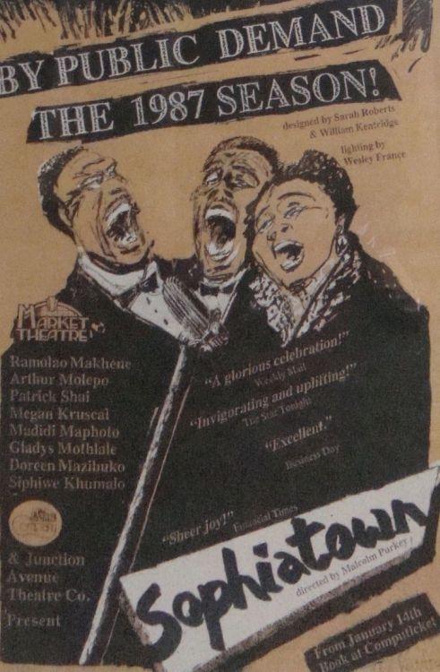 William Kentridge; Sophiatown, the 1980 season, Market Theatre Poster