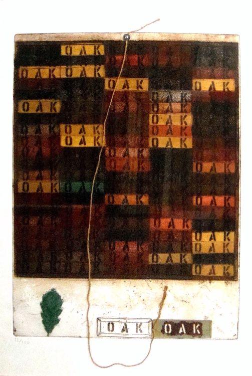 Joe Tilson; Oak Mantra