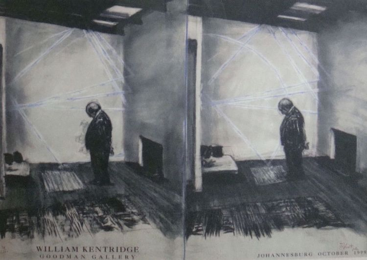 William Kentridge; Goodman Gallery, Johannesburg, October 1999, Exhibition Poster
