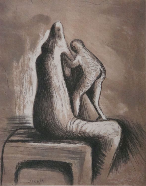 Henry Moore; Mother and Child, (C.684)