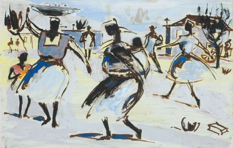 Gerard Sekoto; Women in the Wind