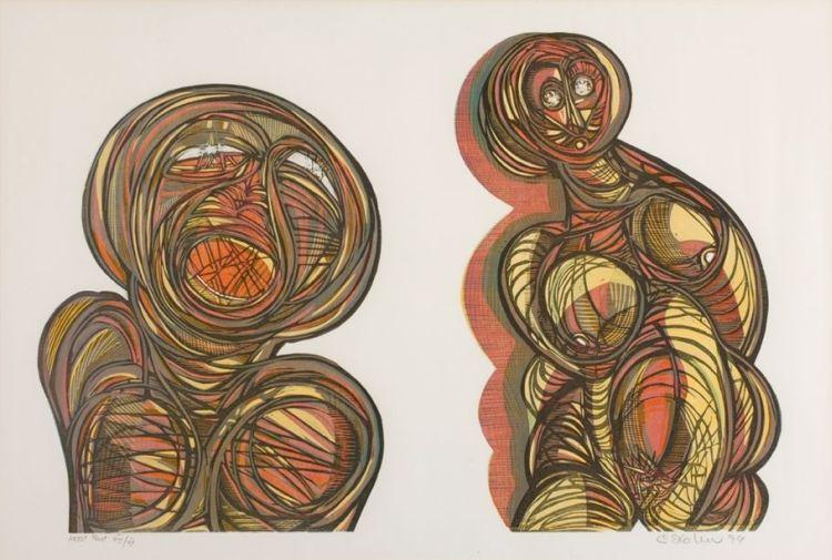 Cecil Skotnes; Two Figures
