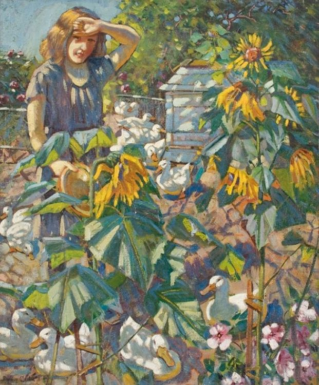 Sydney Carter; Between Sunflowers