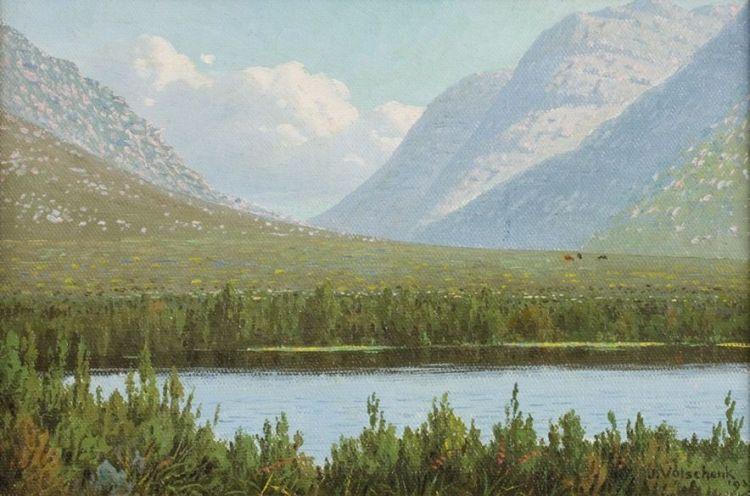 Jan Ernst Abraham Volschenk; A Vlei in Mountains (Happy Valley, Riversdale)