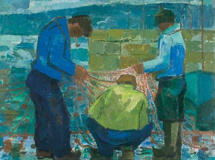 Alfred Krenz; Fishermen, False Bay