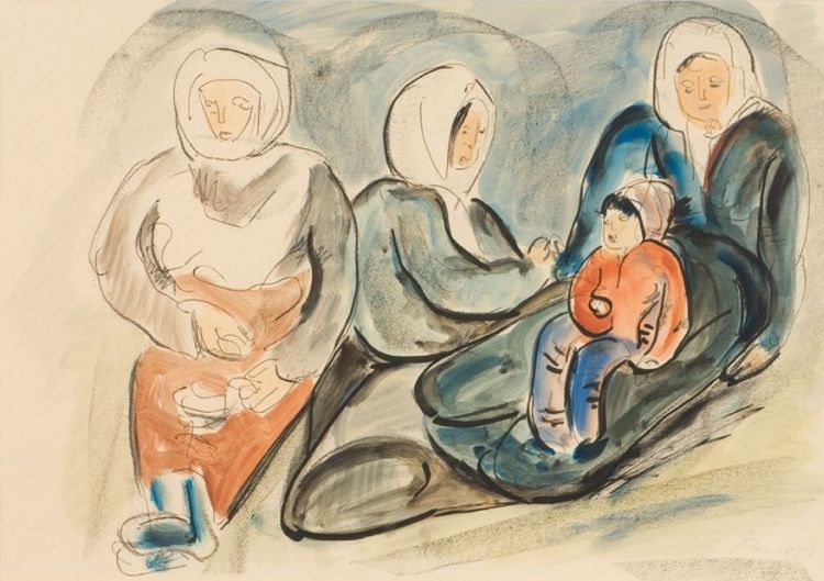 Irma Stern; Arab Woman and Child