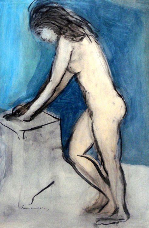 Jean Welz; A Standing Nude