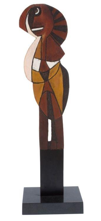 Cecil Skotnes; Carved Figural Totem