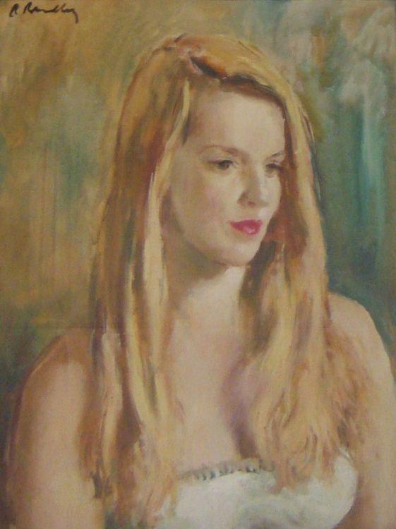 Robert Broadley; A Woman in a White Dress