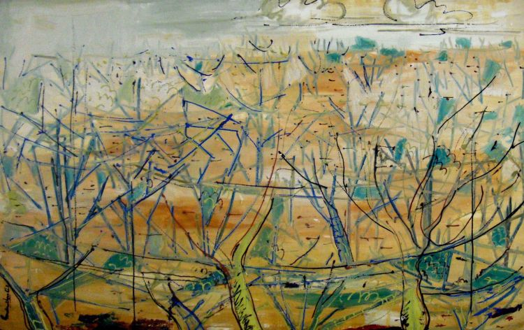 Gordon Vorster; A Wooded Landscape