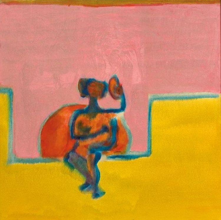 Robert Hodgins; Nude in a Pink Boudoir