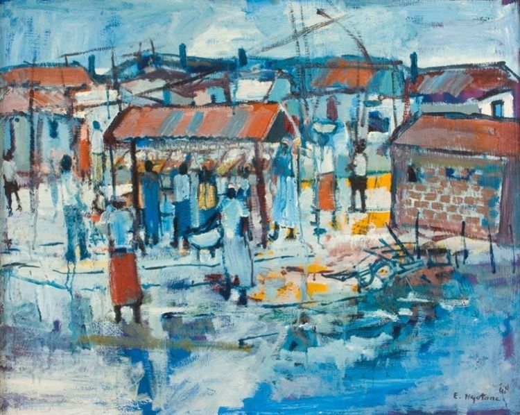 Ephraim Ngatane; Pimville Street Scene