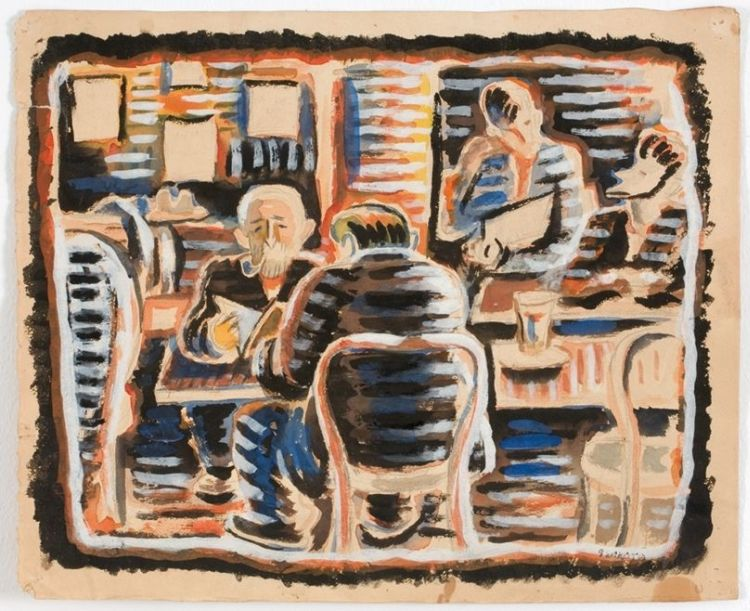 Gerard Sekoto; Parisian Café Scene