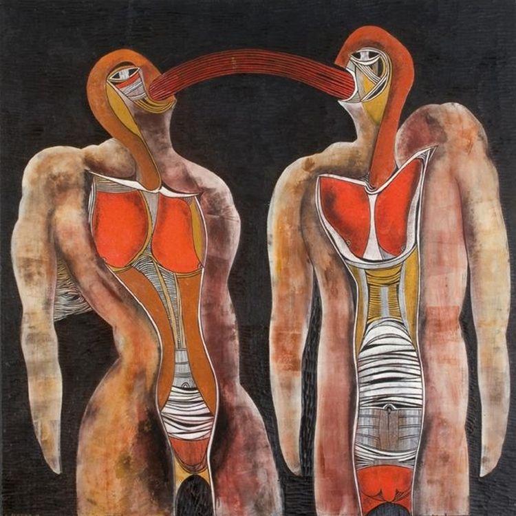 Cecil Skotnes; Two Figures Conversing