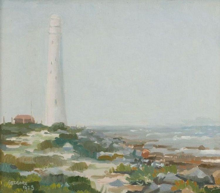 Gregoire Boonzaier; Kommetjie Lighthouse in the Mist