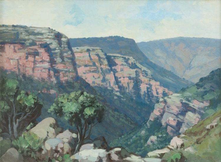 Willem Hermanus Coetzer; Mountainous Gorge, Natal