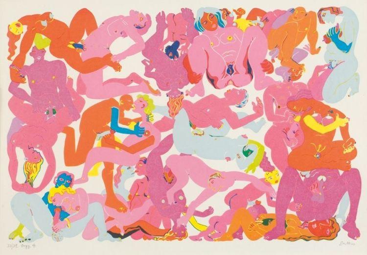 Walter Battiss; Orgy 4